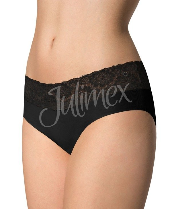 Hipster panties with Julimex lace black