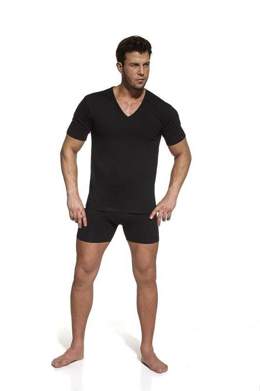 Koszulka męska krótki rękaw High Emotion 531 Cornette czarna
